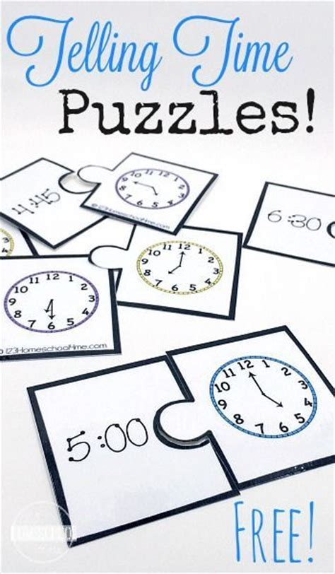 printable games for telling time telling time puzzles living life intentionally