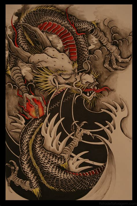 tattoo 3d dragao tatuagem de dragao foto de tatuagem