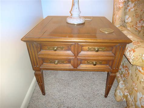antique coffee table set hekman vintage coffee and end tables set antique appraisal