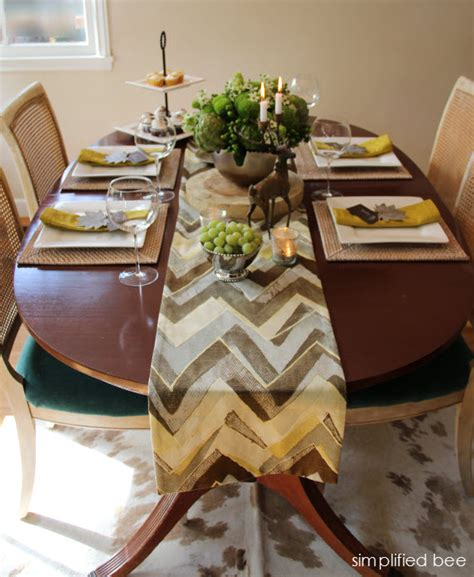 contemporary setting contemporary thanksgiving table setting simplified bee