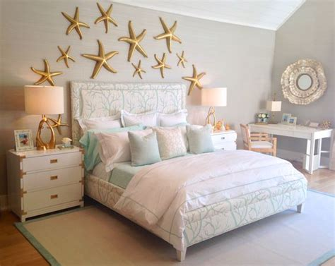Gold And Coral Bedroom by The Sea Themed Bedroom With A Coral Print