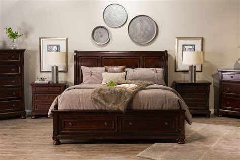 ashley b697 bedroom set 57 quot traditional beveled sleigh bed in dark brown mathis