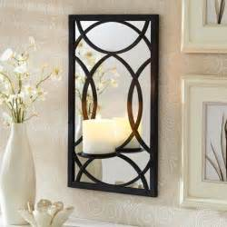 Better Homes And Gardens Wall Decor mirrored wall black sconce pillar holder candle holder decor decor