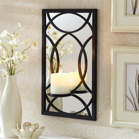 better homes gardens metal mirror pillar black sconce