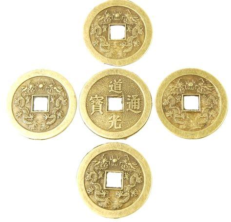 Feng Shui Coins At Front Door Feng Shui Fortune Coins I Ching Luck Lot Of 5