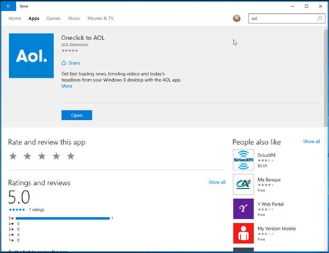 Aol Desk Top by Accessing Aol Or Apps Using Windows 10 Aol Help