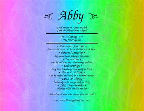 what does the name abby meaning of name