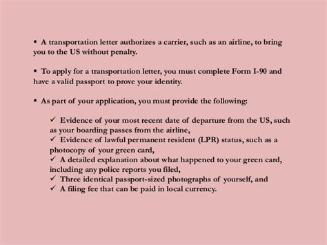 Us Embassy Transportation Letter What To Do If Your Green Card Is Lost Or Stolen