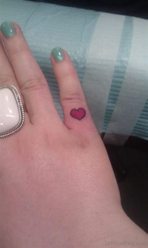 small pink heart tattoo 59 small tattoos on finger