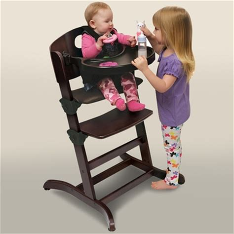Badger Basket Evolve High Chair badger basket evolve convertible wood high chair with tray and cushion in espresso free shipping
