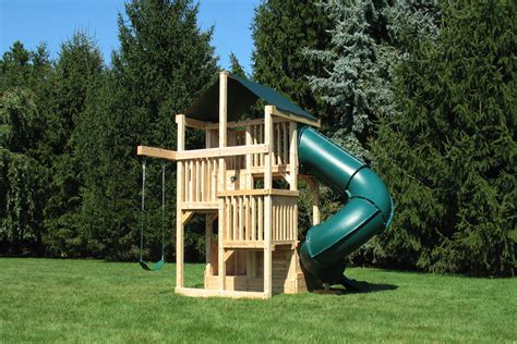 space saver swing set cedar swing sets quad space saver deluxe