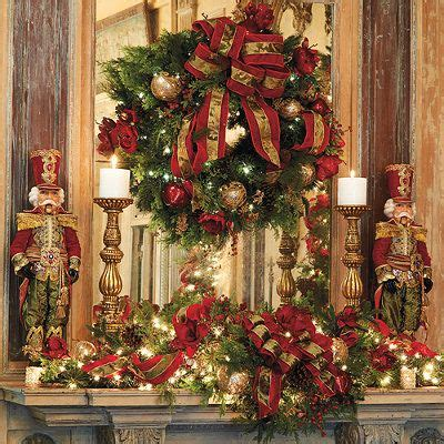 image of christmas mantle with nutcracker beautiful nutcracker mantel mikhail nutcracker doll from frontgate