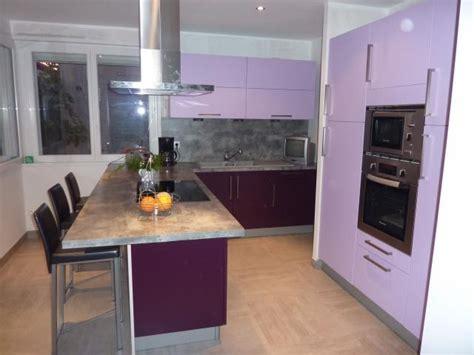 cuisine grise et aubergine am 233 nagement cuisine salle de bains lens pas de calais 62