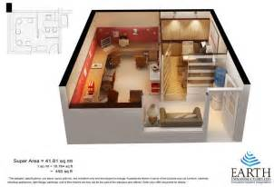 450 Sq Ft Floor Plan by Earth Sapphire Court Noida Extension Earth Sapphire
