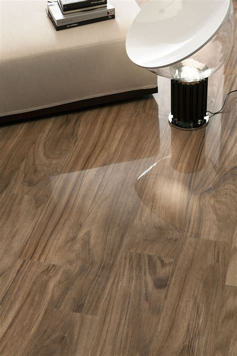 Shiny Tile Floor by Jungle Nut Shiny Wood Look Tile Padron Flooring
