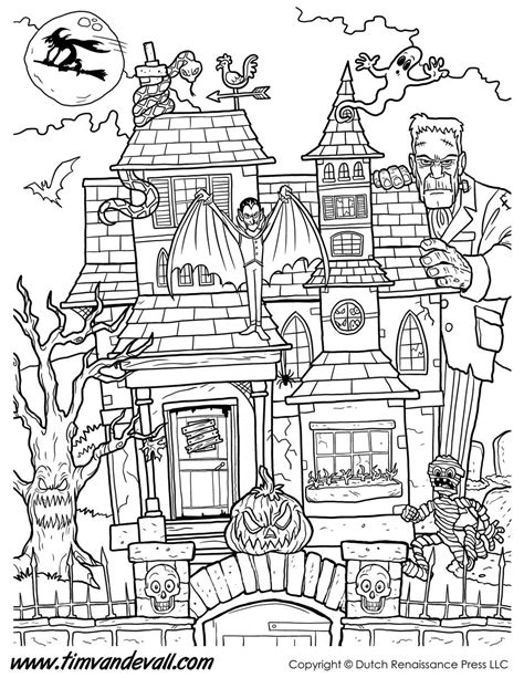 haunted house coloring page haunted house coloring page printable jpg 927 215 1200