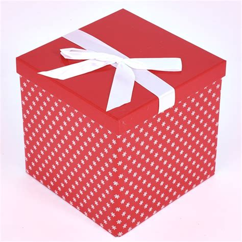 snowflake pattern large flat pack gift box card factory
