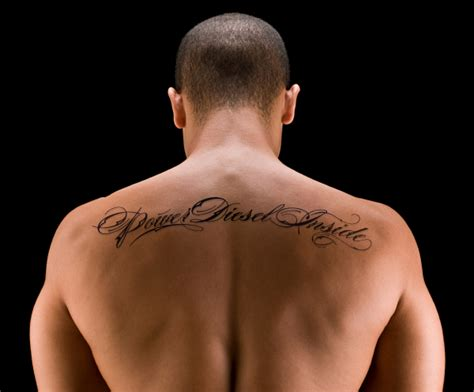 small back tattoos for men back name ideas