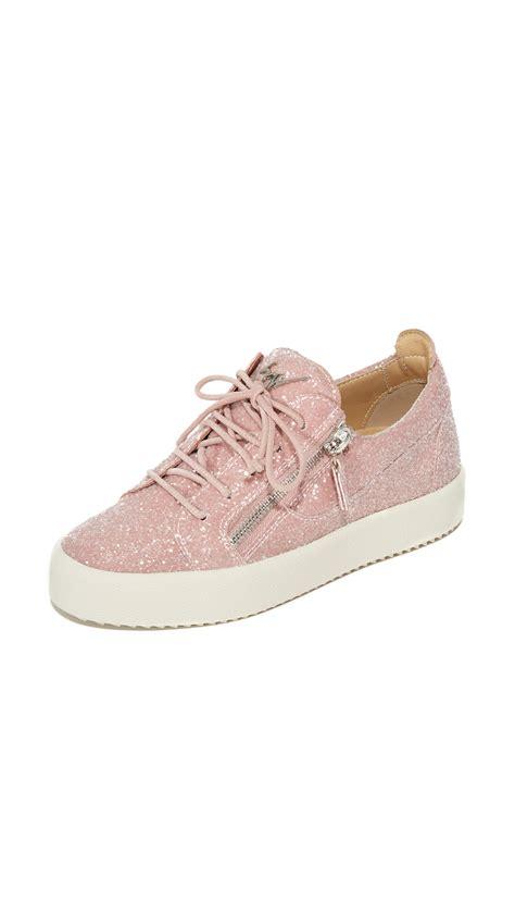 giuseppe zanotti sneakers for giuseppe zanotti glitter sneakers cipria shoes