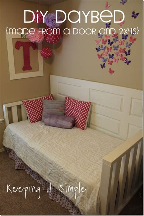 diy daybed ideas diy daybed made from old door diyfurniture buildit hometalk