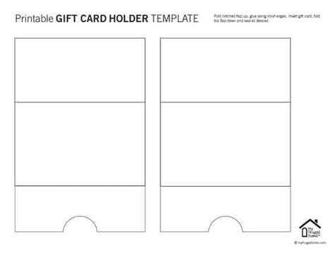 printable money holder card template printable gift card holder templates