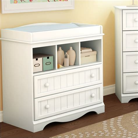 White Wooden Change Table White Country Style Changing Table 3580330 South Shore