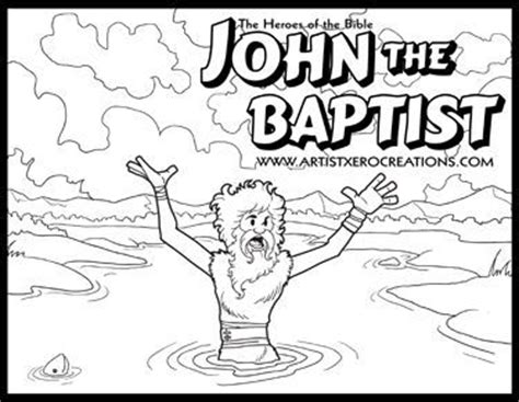coloring page of john the baptist the heroes of the bible coloring pages solomon
