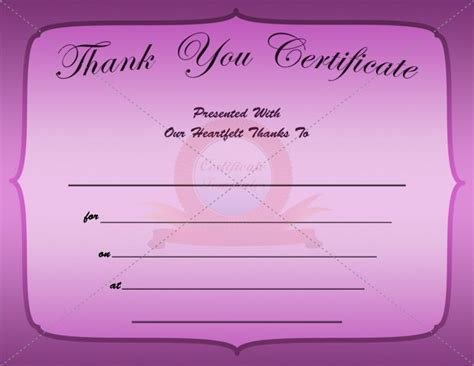 thank you certificate template 12 best images about thank you certificate templates on