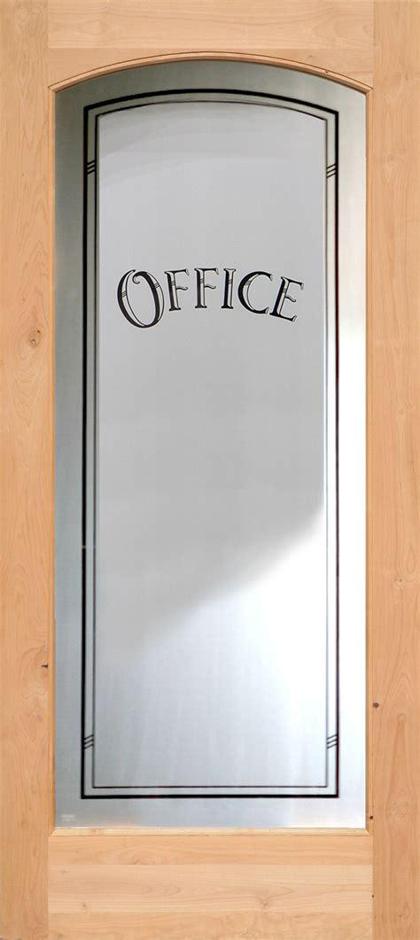 Interior Etched Glass Doors Full Lite Interior Doors Office Doors With Glass
