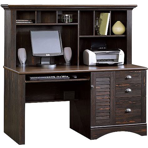 Sauder Harbor View Computer Desk With Hutch Antiqued Harbor View Computer Desk With Hutch