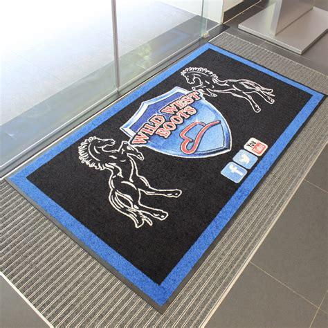 logo rugs mats custom printed logo mats and door mats