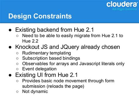 knockout js pattern validation a closer look at hue how to interface with hadoop
