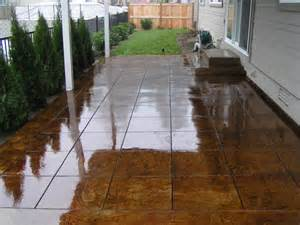Concrete Patio Staining by Acid Stained Concrete Patio