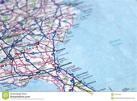 map of the east coast of the usa map east coast america stock image image 14911521