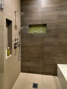 Showers And Baths Wood Tile Shower Houzz