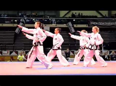 youtube taekwondo pattern 2 nz junior girls taekwon do gold medal patterns toi gye