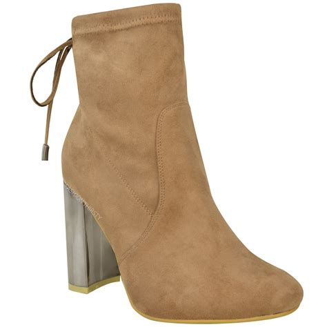 new womens block high heel chelsea ankle boots