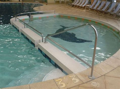 Pool Handrail Swimming Pool Handrail For Kids Home Landscapings