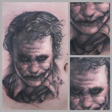 black and grey joker tattoo art junkies tattoo studio tattoos ryan mullins black