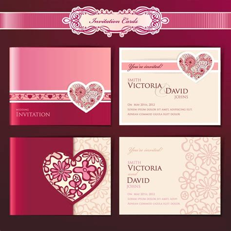 template wedding card wedding invitation design templates wedding and bridal
