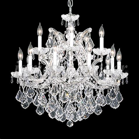 James Moder 91800s22 Maria Theresa Grand Crystal Silver Moder Chandeliers