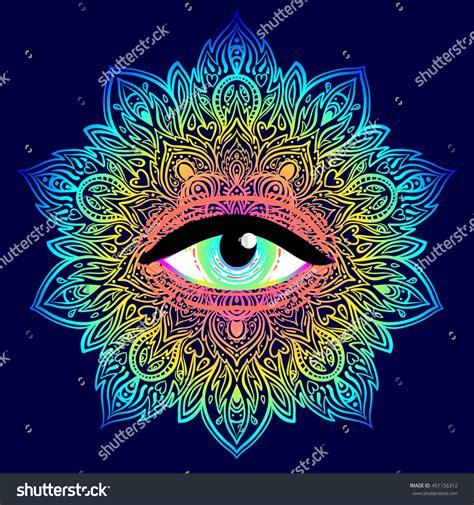 sacred geometry symbol all seeing eye stock vector sacred geometry symbol all seeing eye stock vector 451156312