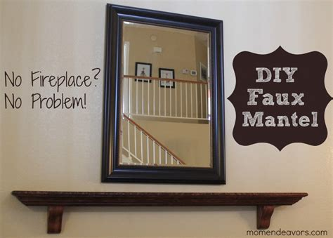How To Hang A Mantel Shelf by Diy Faux Mantel Shelf Install