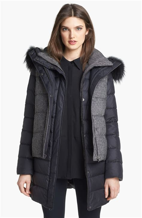 1 Quilted Fox Fur Trim Coat by Soia Kyo 6in1 Reversible Quilted Jacket Vest With
