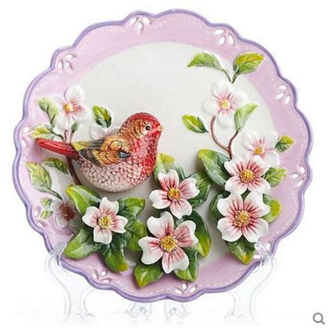 decorative flowers popular decorative plates birds buy cheap decorative