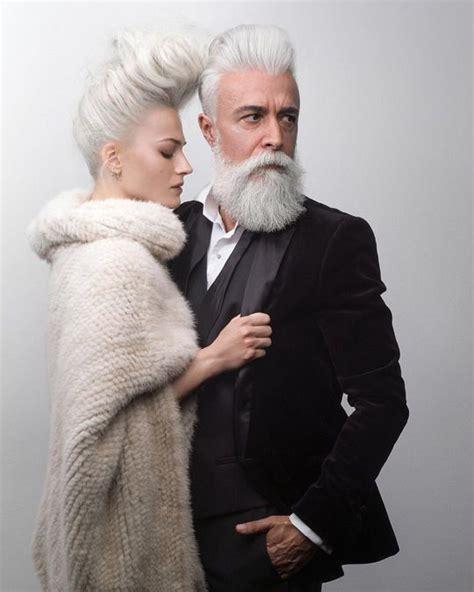 grey hair and beard and tattoos men pinterest beards alessandro manfredini beard treatment pinterest