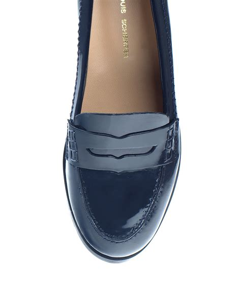navy leather loafers womens jean louis scherrer s viggo navy leather loafers