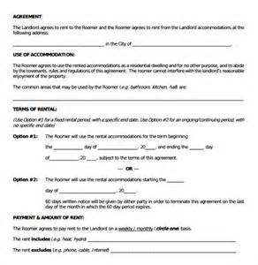 Room Agreement Template by Room Rental Agreement 9 Free Documents In Pdf