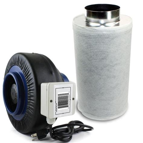 carbon filter fan combo ventech if6cf620 6 quot inline duct fan 440 cfm w virgin
