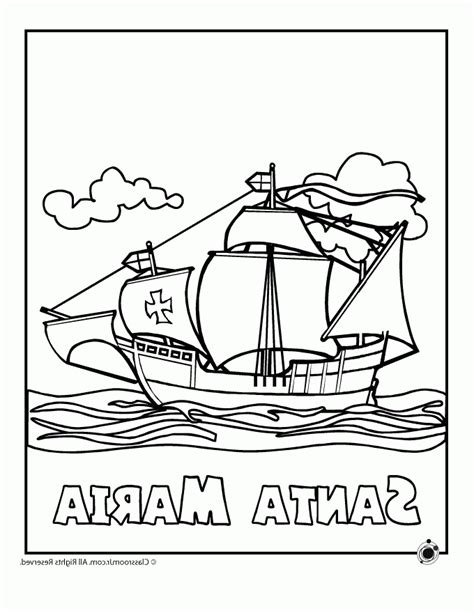 the pinta coloring page az coloring pages